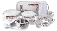 Delight Plastic Crockery Family Set