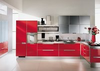High Gloss Modular Kitchen Cabinets