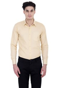 London Looks Light Brown Men Formal Shirts