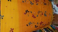 Hand Applique Cotton Saree