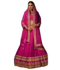 Bridal Lehenga Choli In Pink Colour With Net Dupatta