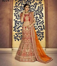 Maroon Dupion Silk Bridal Lehenga With Net Dupatta