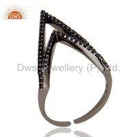 Blue Sapphire Gemstone 925 Silver Midi Ring Jewelry