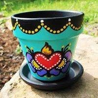 Designs Hand Paint Flower Pots