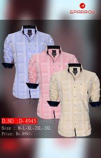 Mens Full Sleeve Check Shirt D-4945