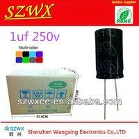 Alumium Electrolytic Capacitors 1.0uf 250v