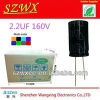 160V 2.2UF 6.3*11mm Aluminum Electrolytic Capacitor