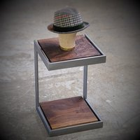 Iron Wooden Side Table