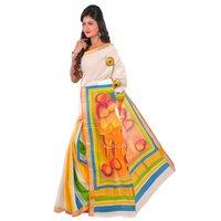 Kerala Cotton Hand Painted Sarees