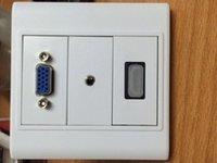 HDMI VGA Audio Wall Plates