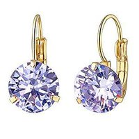 Agway Alloy White Gold Plated Crystal Stone Earrings for Women