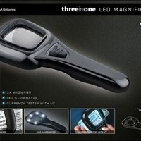 LED Magnifier With UV Light Square