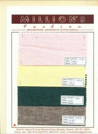Pure Cotton Linen Shirting Fabric