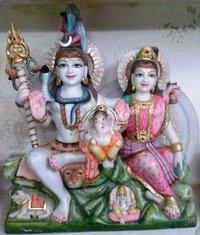 God Shiv Parvati Marble Statue