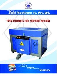 Twin Hydraulic Edge Squaring Machine