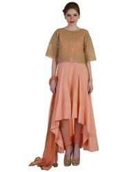 Kurta Net Lycra Pajami And Dupatta