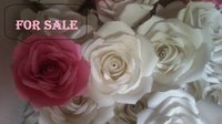 Paper Roses With White And Pink Combination