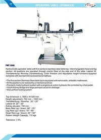 Hydraulically Operated Operating Table