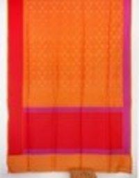 Orange Crepe Jamdani W.Z.Sarees