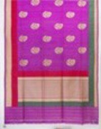 Purple Tassar Buta W.Z. Sarees