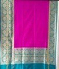 Majenta Silk Skirt Plain Sarees