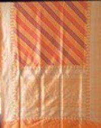 S. Golden Silk Buti Saree
