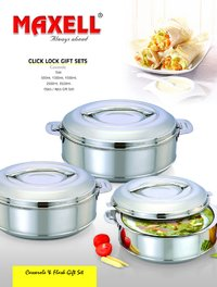Stainless Steel Casserole (Click Lock)