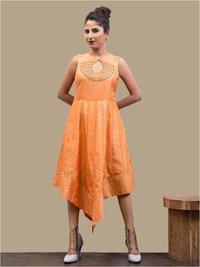 Ladies Organic Saffron Handkerchief Dress