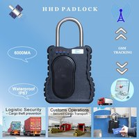 Alarm GPS Padlock for Transportation Security With Tracking Capability