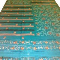 Handloom Shawls With Embroidery