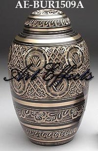 Radiance Engraved Brass Cremation Urn