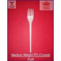 Medium Weight Polystyrene (Crystal) Fork - New