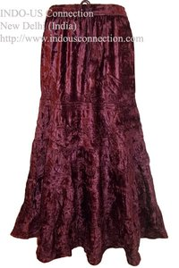 Gothic Renaissance Luxurious Embroidered Velvet Gypsy Skirt