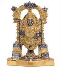 Gold Balaji Statue