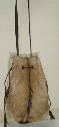 Goat Hair Leather Bag