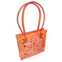 Hand Printed Leather Bags