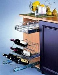 Pull - Out Bottle Rack Basket