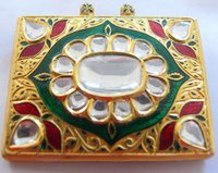 Mughal Style Rose Cut Diamond Pendant