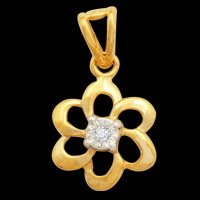 Ciemme - Single Diamond Flower Pendant