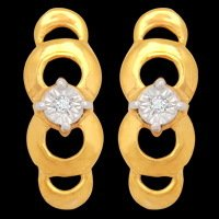 Fancy Real Diamond Low Budget Designer Earring