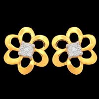 Single Diamond Flower Earring
