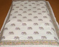 Block Printed Bed Cover