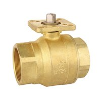 2 Piece Brass Ball Valve with Mounting Pad