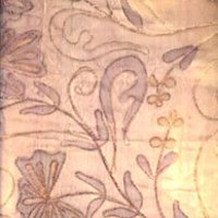 Embroidered Organza Silk Fabric