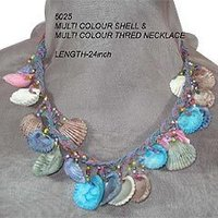 Multi Colour Shell Necklaces