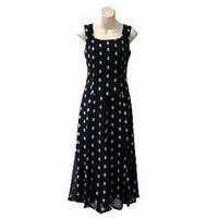Sleeveless Polka Dot Evening Dress