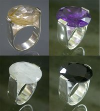 DESIGNER GEMSTONE STUDDED SILVER RINGS