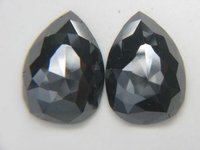 PEAR PAIR CUT BLACK DIAMONDS