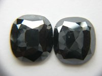OVAL CUT PAIR BLACK DIAMONDS