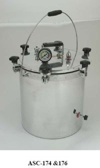 Portable Vertical Autoclave Single Drum Aluminum